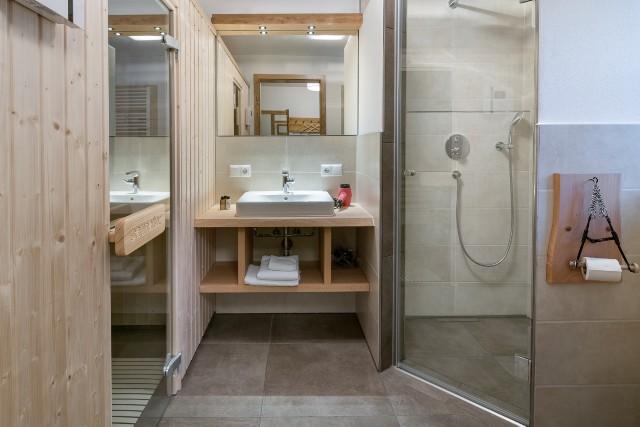Pferdestall Badezimmer mit Sauna